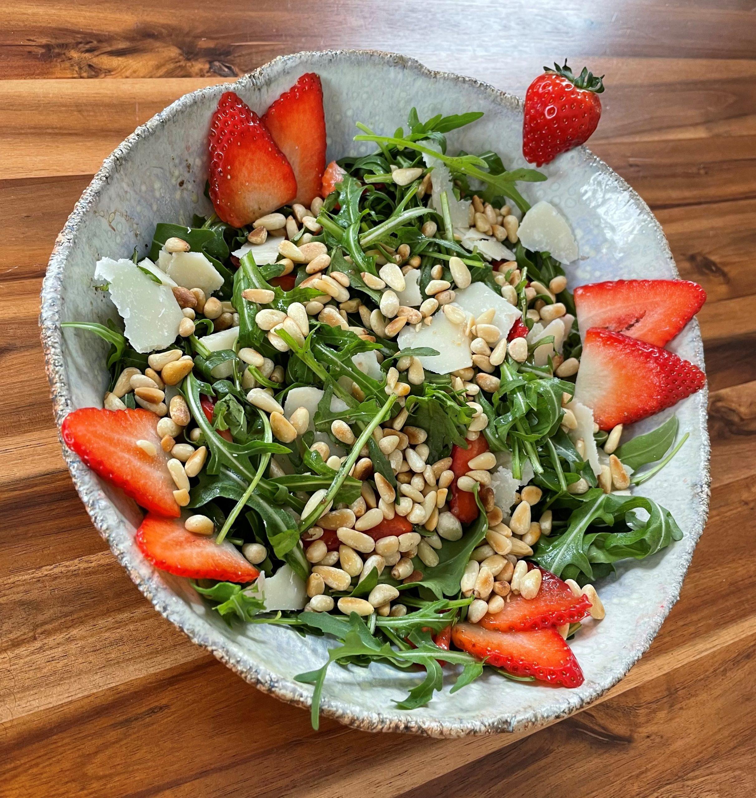 Rucola-Erdbeer-Salat